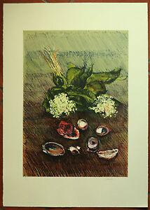 GIANCARLO CAZZANIGA  litografia MUGHETTI 70x50 firmata numerata anno 1984