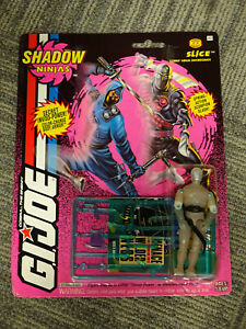 Hasbro 1993 G.I. Joe Shadow Ninjas Slice Action Figure MOC