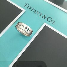 New Tiffany & Co Silver Diamond Key Hole Ring $450/new