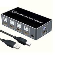 KVM Switcher Sharing USB HDMI für Maus Tastatur Hub Kabel USB Port + W7G0