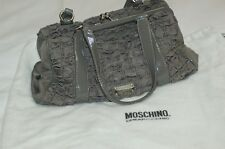Moschino Cheap and Chic Gray Nylon/Leather Two Handle Purse Bag
