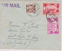 BURMA 1951 Airmail Cover to Switzerland