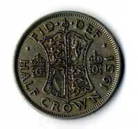 Moneda Inglaterra 1951 half Crown Jorge VI  coin Reino Unido