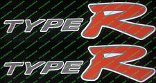 Honda Civic Type R Ep3 K20 V Tec Rojo Pegatinas De Panel Lateral Falda Contorno Blanco