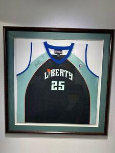 """Becky Hammon"" Signed New York Liberty Jersey - Framed"