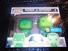 Funko Pop Batman VS Superman 2 Pack Glow in the Dark Walmart Exclusive GITD NEW