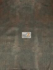 """ALLIGATOR EMBOSSED FAUX LEATHER UPHOLSTERY VINYL FABRIC 56""""/58"""" WIDE BY THE YARD"""