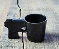 Black Ceramic Gun Pistol Handle Shot Glass Bigmouth Inc.