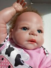 Reborn Baby Girl Pink Skin Red Hair Realistic Lifelike Doll 20 inch