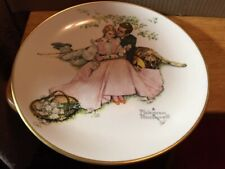 Plate~Norman Rockwell Gorham Fine China 1973 Summer~Flowers In Tender Bloom