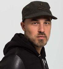 Diesel Men's Commar Cap Embroidered Detail Adjustable Wool Blend Baseball Hat