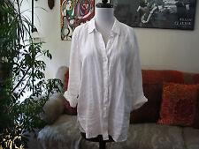 J JILL sz S Love Linen Soft Washed White Button Down Long Sleeve Shirt