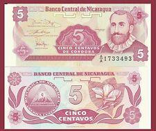 Nicaragua P168, Francisco Cordoba  / national flower 1990, UNC Harrison & Sons