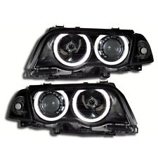 2 FEUX PHARE AVANT ANGEL EYES BMW SERIE 3 E46 BERLINE PHASE 1 DE 1998 A 08/2001