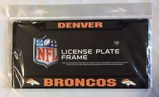 Denver Broncos Chrome Metal License Plate Frame - Auto Tag Holder NEW Black