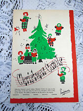 Vintage SIMPSON'S Sears Christmas Carols Staff Sing Along Song Program