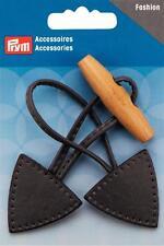 Prym Knebelverschluß anthracite 15x5cm Faux cuir Basculant Serrure 417716