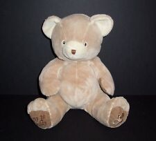 Animal Alley Baby Tan My 1st First Teddy Bear Plush Pacifier Foot Stuffed Toy