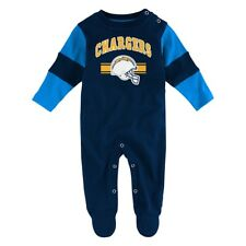 """San Diego Chargers NFL Newborn Navy Blue """"Team Believer"""" Long Sleeve Coverall"""