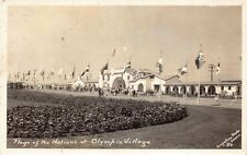 RP Postcard Flags of Nations at Olympic Village Los Angeles, California~127610