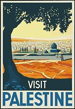 "Palestine Poster Vintage Travel Retro Amazing HQ Silk Art Print 24×36""/60×90cm"