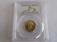 2016-W 1/4 oz. Gold Standing Liberty Quarter Centennial - PCGS SP70 First Strike