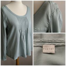 Poetry Light Blue Top 100% Cotton Uk Size 10