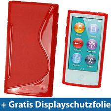 Rot Etui TPU für Neu Apple iPod Nano 7. Gen Generation 7G 16GB Gel Tasche Hülle