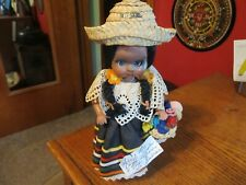 VINTAGE 1970'S SOUTH AMERICAN COLUMBIA DOLL - MOVING EYES & JOINTED AS SHOWN