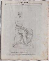 ALBUM DI ROMA VALLE DI TEMPE GRECIA DUNOIS RINALDI 1843