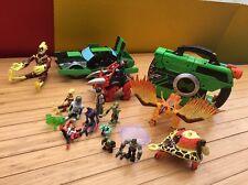 Ben 10 Bandai Lot of 17 Action Figures and Attack Cruiser Car Suitcase Gun