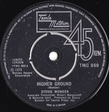 Stevie Wonder ORIG UK 45 Higher ground VG+ '73 Tamla Motown Soul Funk