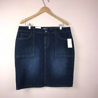 Style Co 14 Denim Skirt NEW Blue Mid Rise  Mini Jean $49