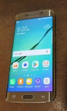 Samsung Galaxy S6 Edge 32GB G925 Gold (AT&T Only) good used Heavy burn