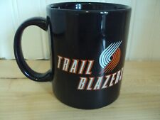 PORTLAND TRAILBLAZERS VINTAGE LOGO SCRIPT BLACK NBA COFFE MUG CUP TICKET HOLDER