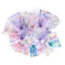 10pcs Jewelry Pouch Gift Bags Wedding Organza Pouches Decoration Random HJg