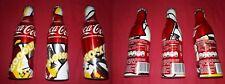 Tris bottiglie alluminio Coca-Cola Spagna Euro 2012 perfette !!!