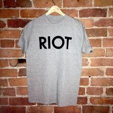 Always Sunny In Philadelphia RIOT - LARGE T-Shirt (Vintage) Unisex (Grey)