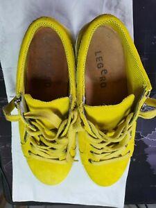 Legero Damenschuhe Gelb | Größe 37 - fällt etwas kleiner aus | Nubuk 1x getragen