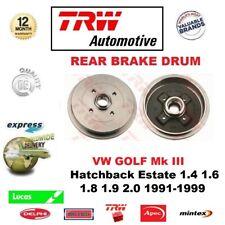 FOR VW GOLF III Hatch Estate 1.4 1.6 1.8 1.9 2.0 1991-1999 QTY 1 REAR BRAKE DRUM
