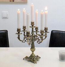 Kerzenleuchter Gold Antik 7-Armig Jugendstil Kerzenständer 30cm Messing-Optik