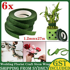 6 Rolls Wedding Florist Craft Stem  Wrap Eco Floral Paper Tape Waterproof 27m AU