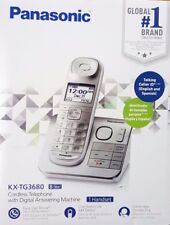 Panasonic Cordless Handset Phone with Answering Machine - Silver (KX-TG3680S)™