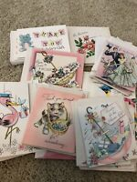 LOT 41 UNUSED VINTAGE GIFT, BABY, BRIDAL, THANK YOU, SHOWER CARDS