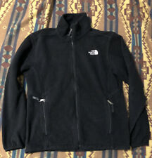North Face Fleece Jacket M Black Outdoor Hiking