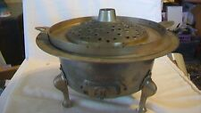 Vintage Bronze 3 Piece Incense Burner with Three Feet, No Markings