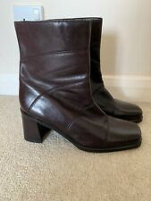 ECCO SHAPE WOMENS BROWN LEATHER BOOTS SIZE UK 7.5 EUR 41