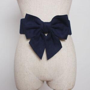 Women Belt Bowknot Stretch Belts for Women Wide Waistband Ties Bow Ladies Dress