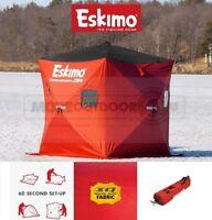 69445 NEW Eskimo Portable Insulated QuickFish 3 Ice Fishing Shelter Shanty