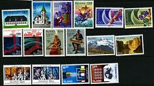 Iceland 1978 - 88 Eight different sets Europa Cept. Mnh